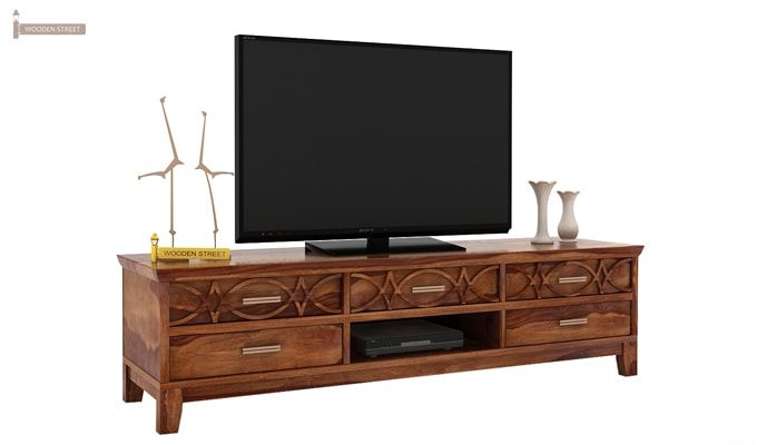Allan Tv Unit (Teak Finish)-1