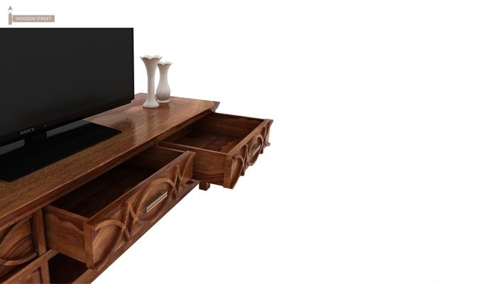 Allan Tv Unit (Teak Finish)-4