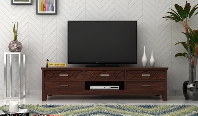Allan Tv Unit (Walnut Finish)-1
