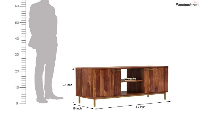 Alto Tv Unit (Teak Finish)-7
