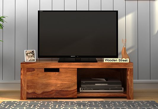 Wooden Tv Unit With Shelves in Jaipur