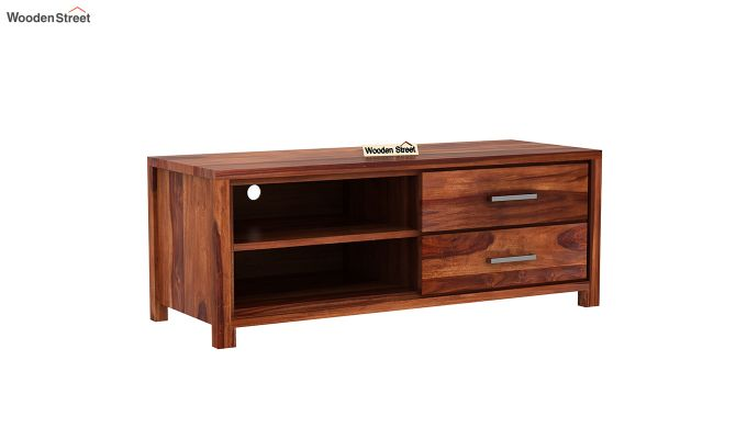 Barun Tv Unit With Side Towers (Honey Finish)-7