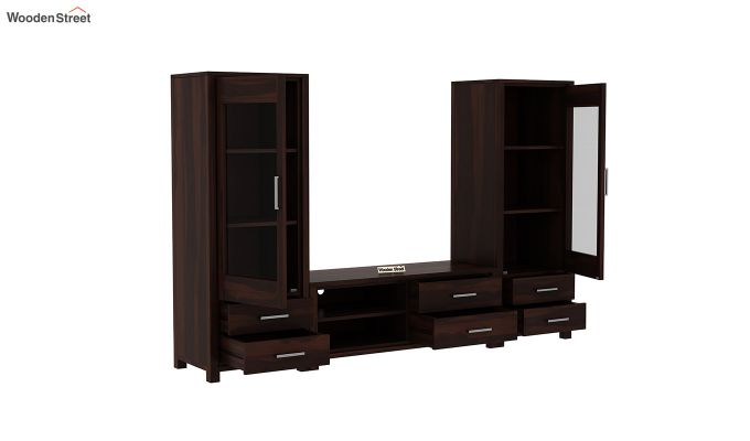 Barun Tv Unit With Side Towers (Walnut Finish)-4