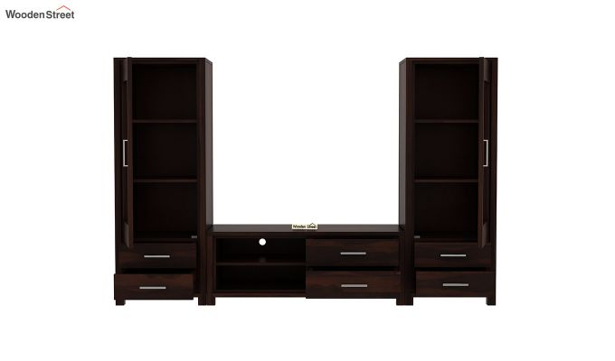 Barun Tv Unit With Side Towers (Walnut Finish)-5