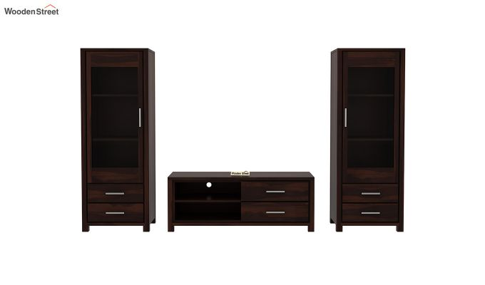 Barun Tv Unit With Side Towers (Walnut Finish)-6
