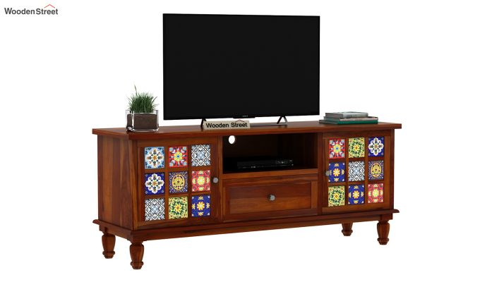 Boho Tv Unit (Honey Finish)-3