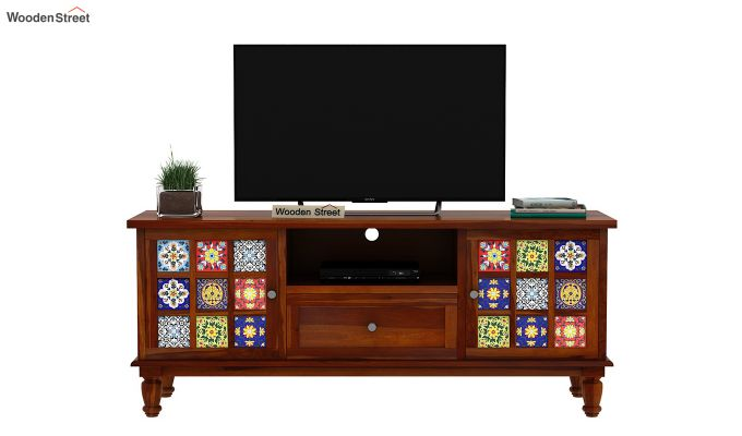 Boho Tv Unit (Honey Finish)-4