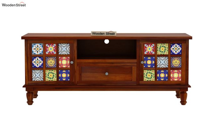 Boho Tv Unit (Honey Finish)-6