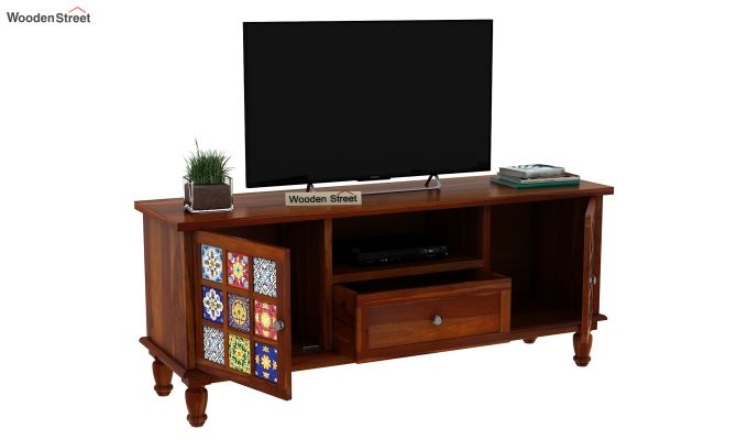 Boho Tv Unit (Honey Finish)-7