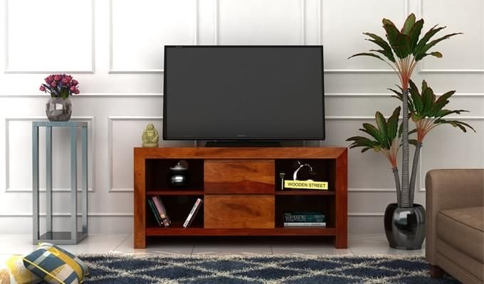 Brook Tv Unit (Honey Finish)-1