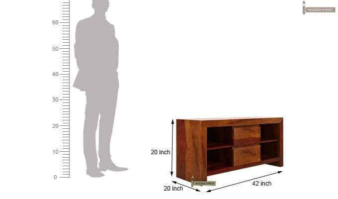 Brook Tv Unit (Honey Finish)-6