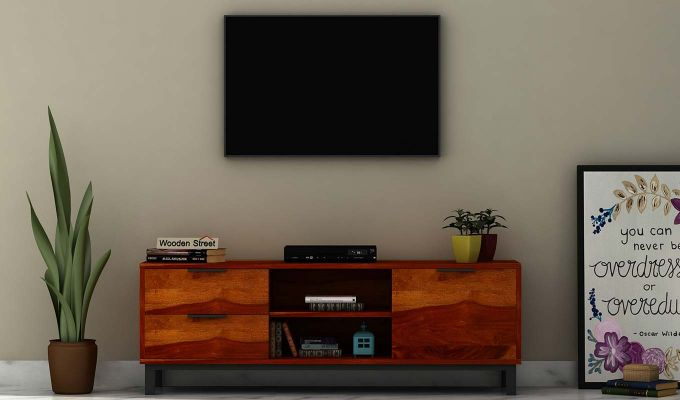 Cadiz Tv Unit (Honey Finish)-1