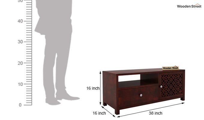 Argil Tv Unit (Mahogany Finish)-5
