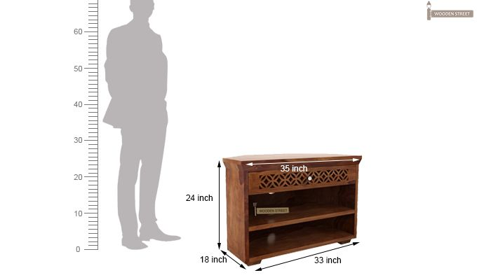 Cambrey Tv Unit (Teak Finish)-4
