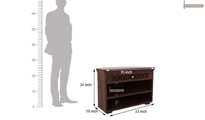 Cambrey Tv Unit (Walnut Finish)-4
