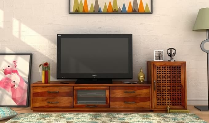 Capezio Tv Unit (Honey Finish)-1