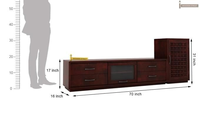 Capezio Tv Unit (Mahogany Finish)-4