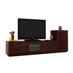 Capezio Tv Unit (Mahogany Finish)