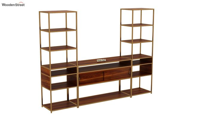 Carto Brass Tv Unit (Honey Finish)-3