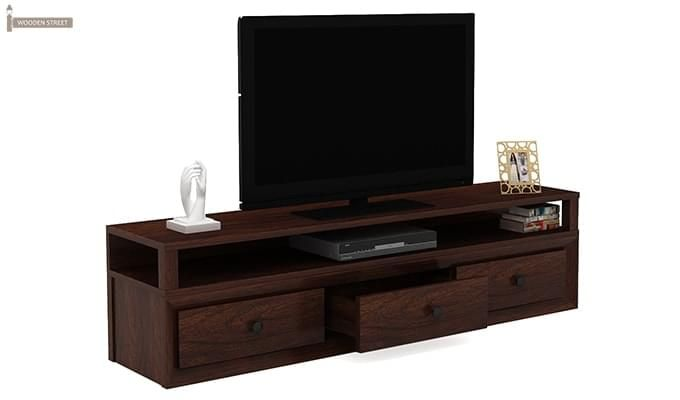 Carvel Tv Unit (Walnut Finish)-2