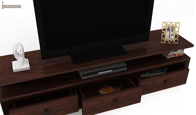 Carvel Tv Unit (Walnut Finish)-5