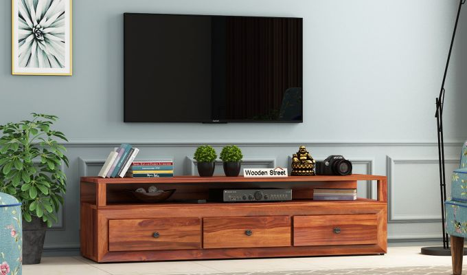 Carvel Tv Unit (Honey Finish)-1