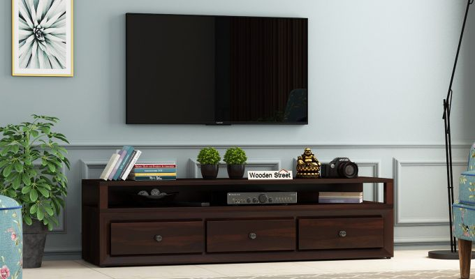 Carvel Tv Unit (Walnut Finish)-1