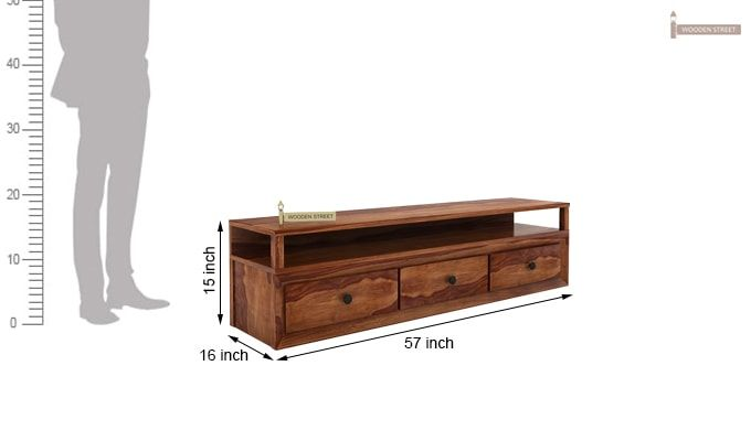 Carvel Tv Unit (Teak Finish)-4