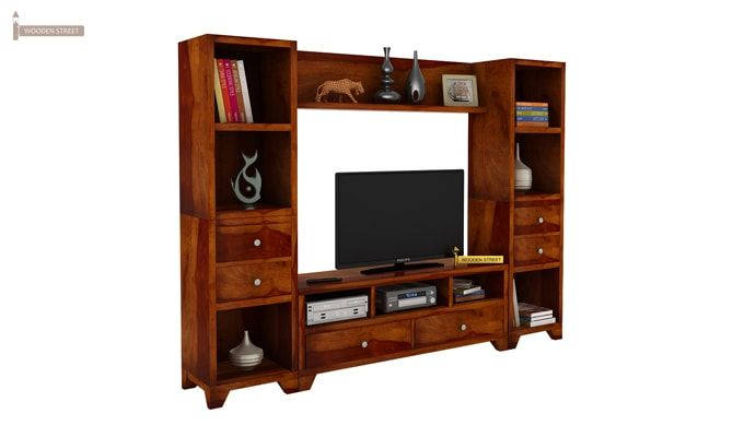 Chappell Tv Unit (Honey Finish)-1