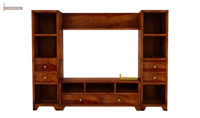 Chappell Tv Unit (Honey Finish)-4