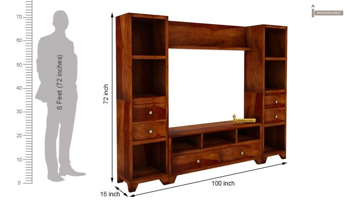 Chappell Tv Unit (Honey Finish)-7
