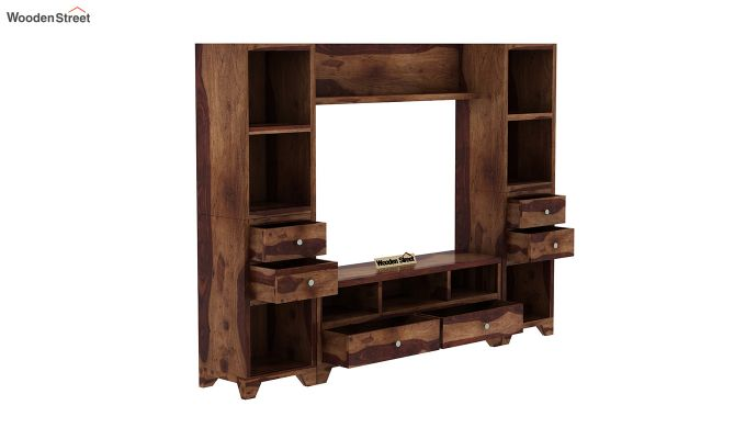 Chappell Tv Unit (Teak Finish)-4