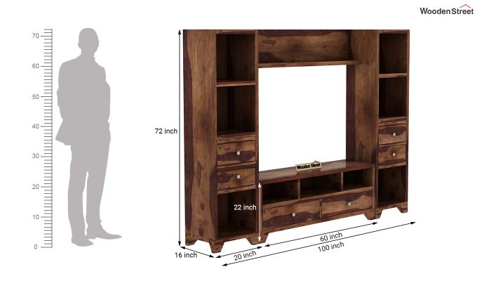 Chappell Tv Unit (Teak Finish)-10