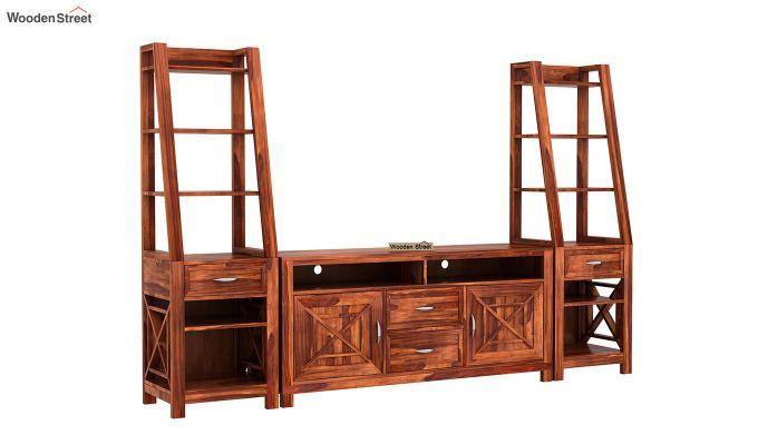 Charon Tv Unit (Honey Finish)-3
