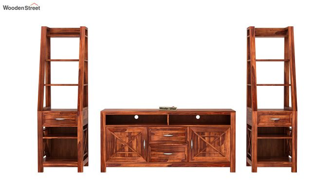 Charon Tv Unit (Honey Finish)-5