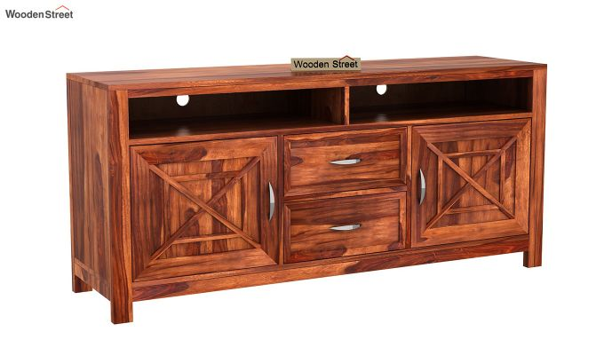 Charon Tv Unit (Honey Finish)-6