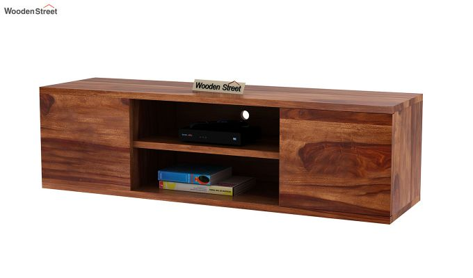 Cubis Wall Mount TV Unit (Teak Finish)-5