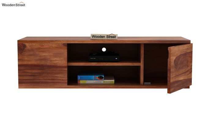 Cubis Wall Mount TV Unit (Teak Finish)-6