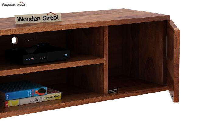 Cubis Wall Mount TV Unit (Teak Finish)-8