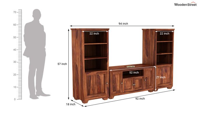 Delaila Tv Unit (Honey Finish)-11
