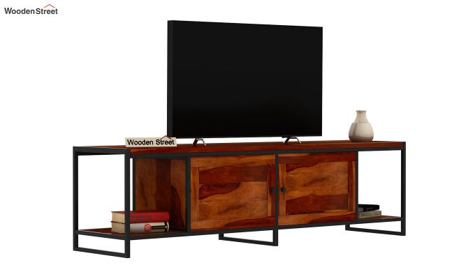 Denver Tv Unit (Honey Finish)-2