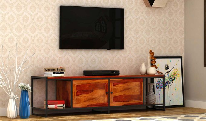 Denver Tv Unit (Honey Finish)-1