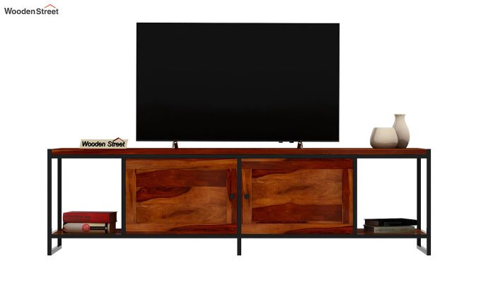 Denver Tv Unit (Honey Finish)-3