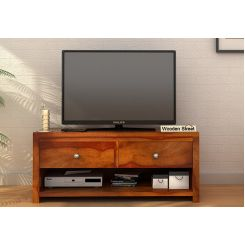 Denzel Tv Unit (Honey Finish)