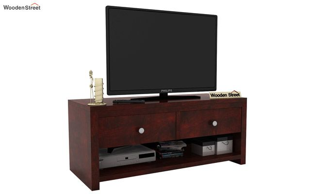 Denzel Tv Unit (Mahogany Finish)-1