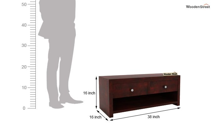Denzel Tv Unit (Mahogany Finish)-5