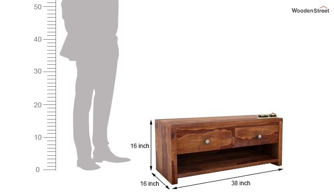 Denzel Tv Unit (Teak Finish)-5