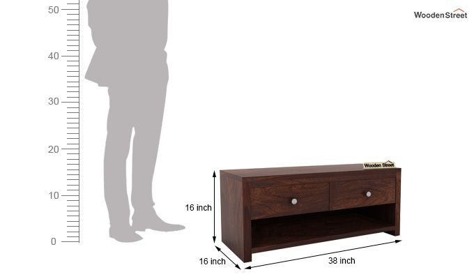Denzel Tv Unit (Walnut Finish)-5