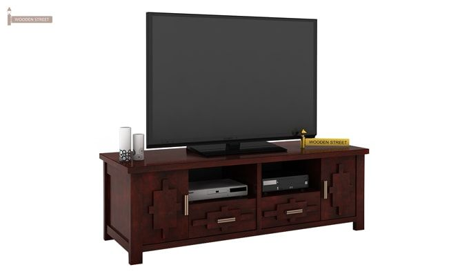 Eden Tv Unit (Mahogany Finish)-1