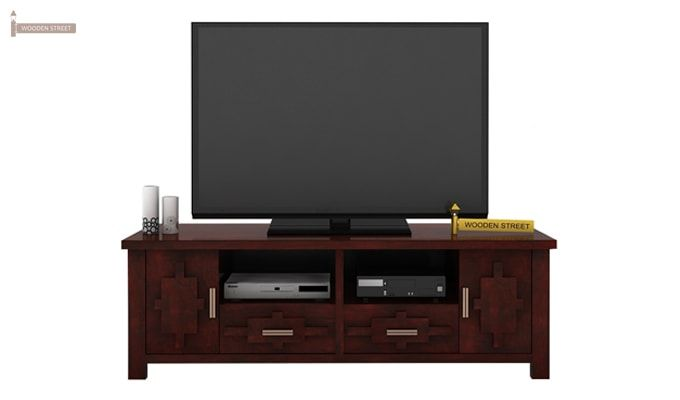 Eden Tv Unit (Mahogany Finish)-2